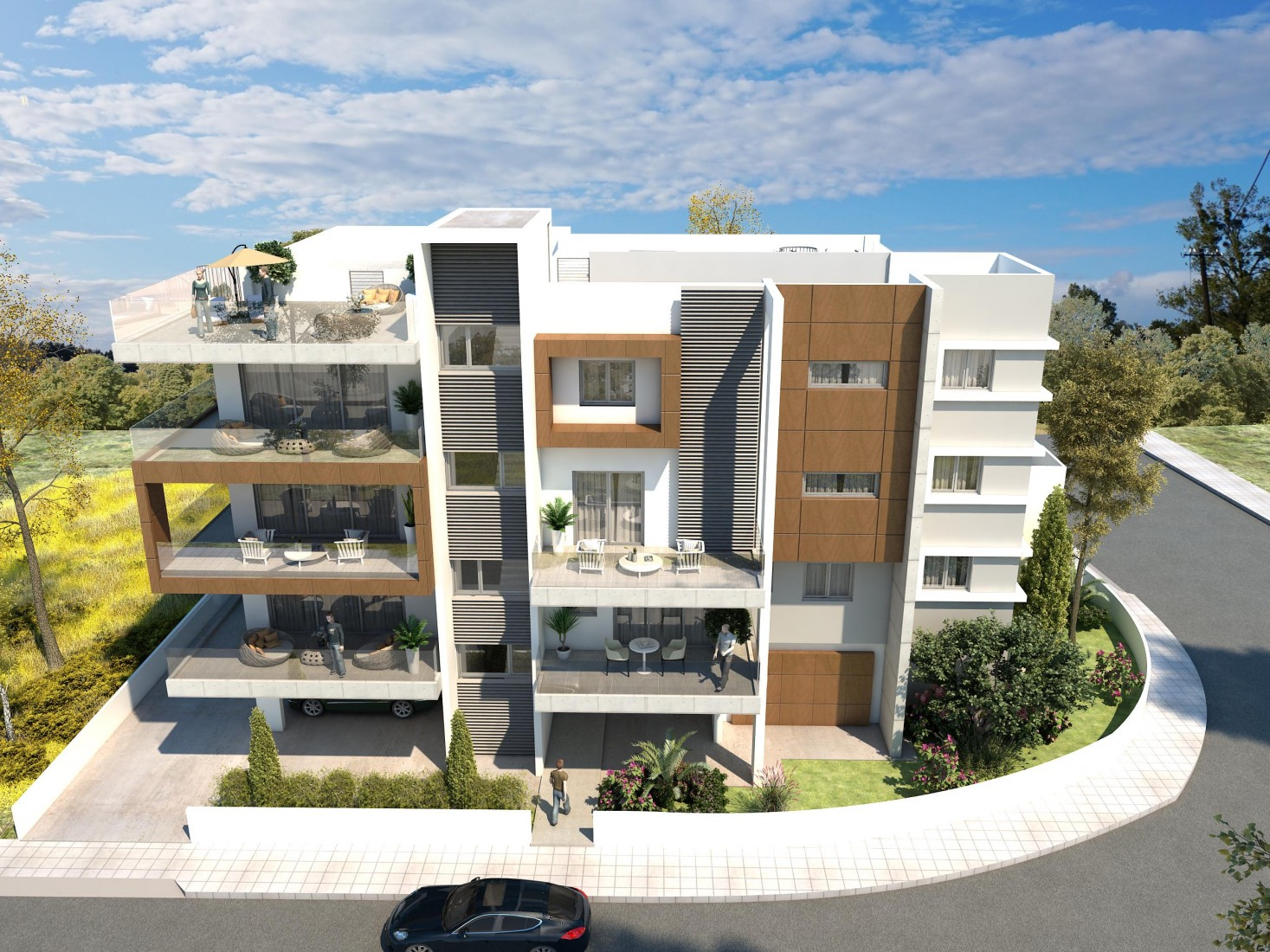 Elite Design | Roof Garden in Strovolos, Nicosia | M.Residence